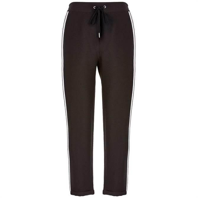 Mint Velvet Black Side Stripe Trousers
