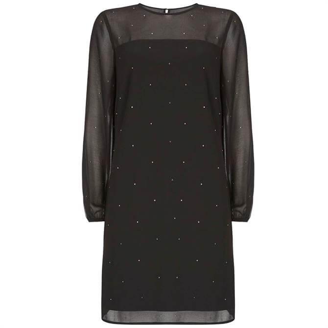 Mint Velvet Black Studded Mini Dress