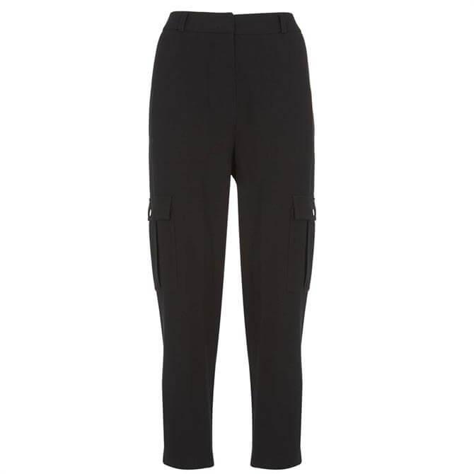 Mint Velvet Black Utility Tapered Trousers