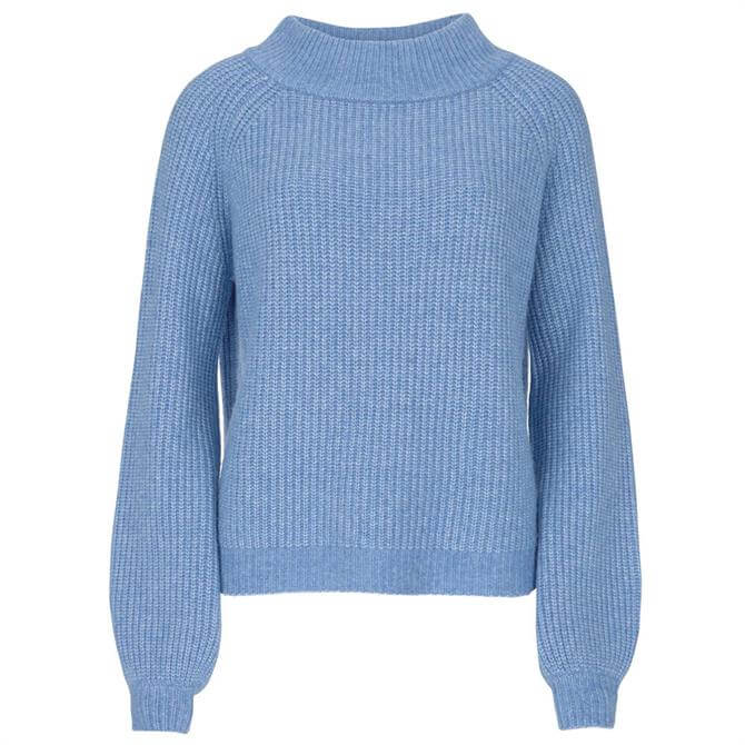 Mint Velvet Blue Chunky Boat Neck Jumper