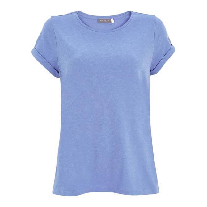 Mint Velvet Cotton Blue Star T-Shirt