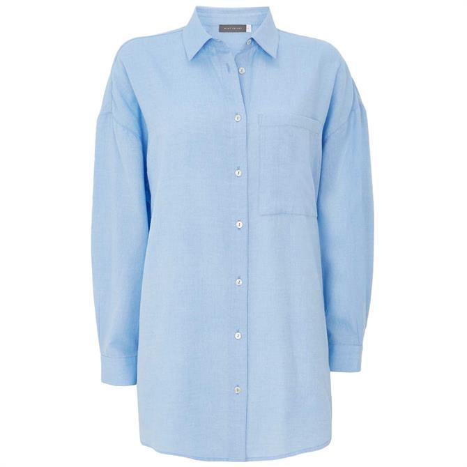 Mint Velvet Blue Pocket Oversized Shirt