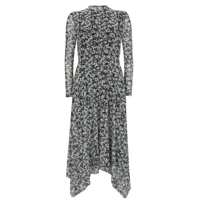 Mint Velvet Bonnie Print Jersey Midi Dress