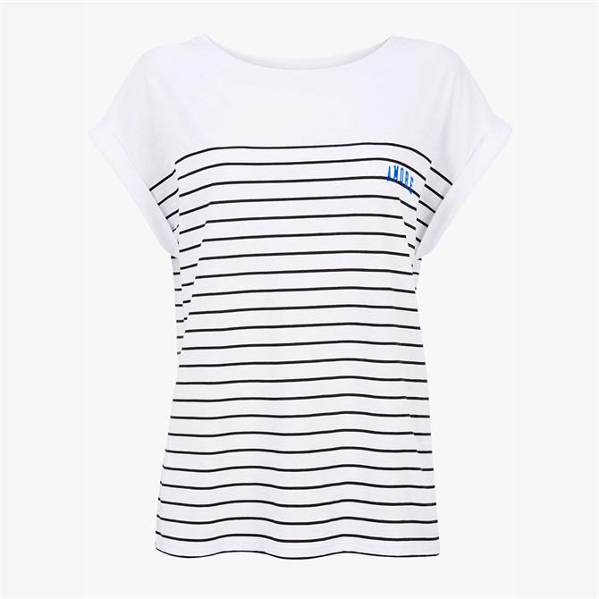 Mint Velvet Breton Striped Slogan T-Shirt