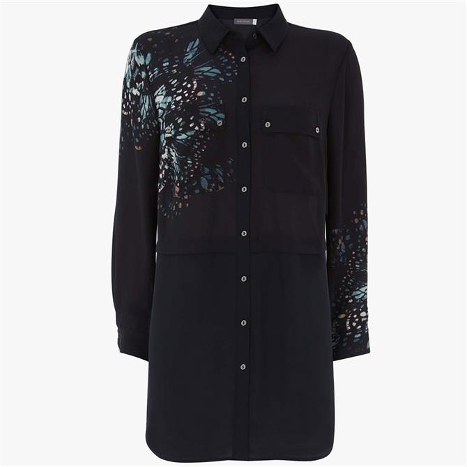 Mint Velvet Cora Print Long Shirt