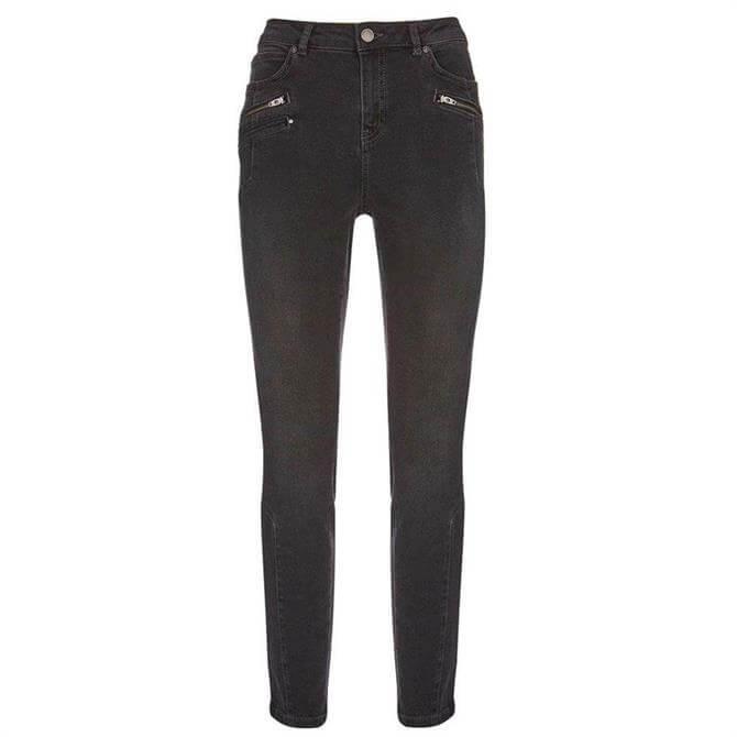 Mint Velvet Denver Black Biker Jeans