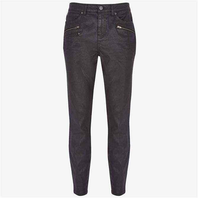 Mint Velvet Denver Black Coated Jeans