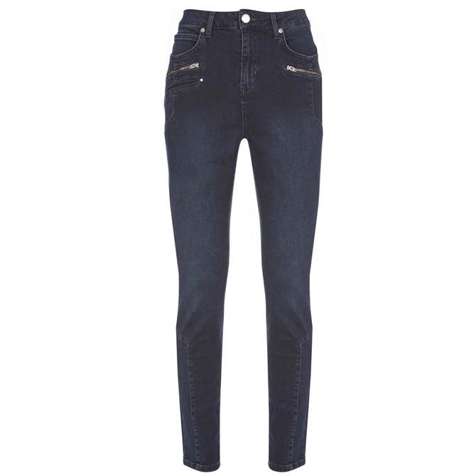 Mint Velvet Denver Dark Indigo Biker Jeans