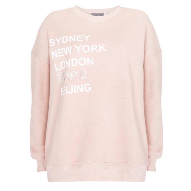 Mint Velvet Dusty Pink Cities Sweatshirt