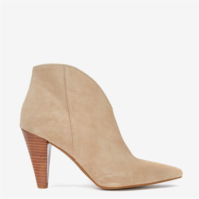 Mint Velvet Finny Sand Suede Ankle Boots