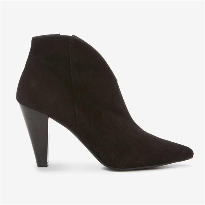 Mint Velvet Finny Black Suede Ankle Boots