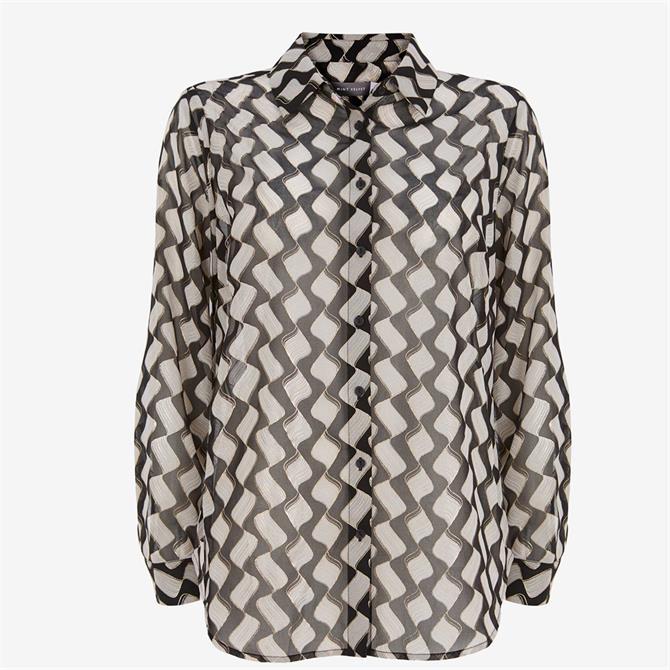 Mint Velvet Gianna Foil Print Shirt