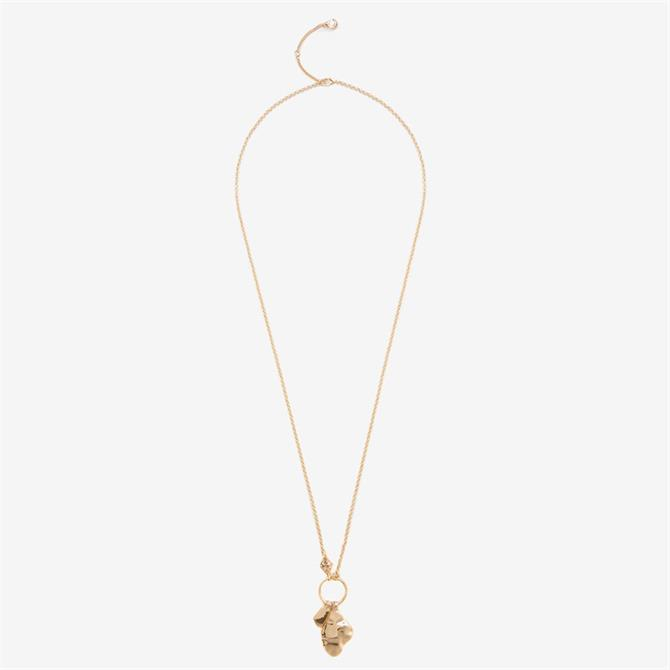 Mint Velvet Gold Charm Pendant Necklace