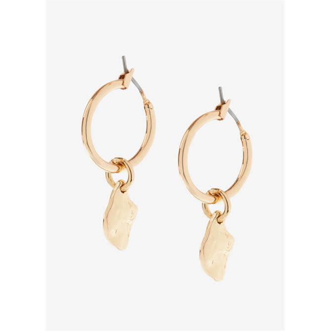 Mint Velvet Gold Nugget Drop Earrings