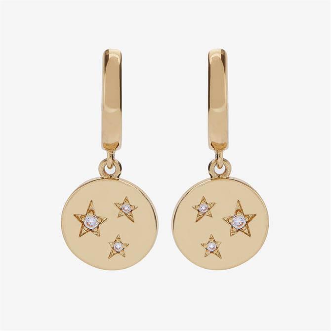 Mint Velvet Gold Plated Disc Earrings