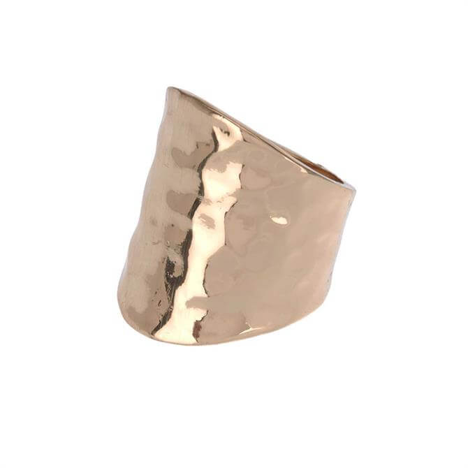 Mint Velvet Gold Tone Hammered Ring