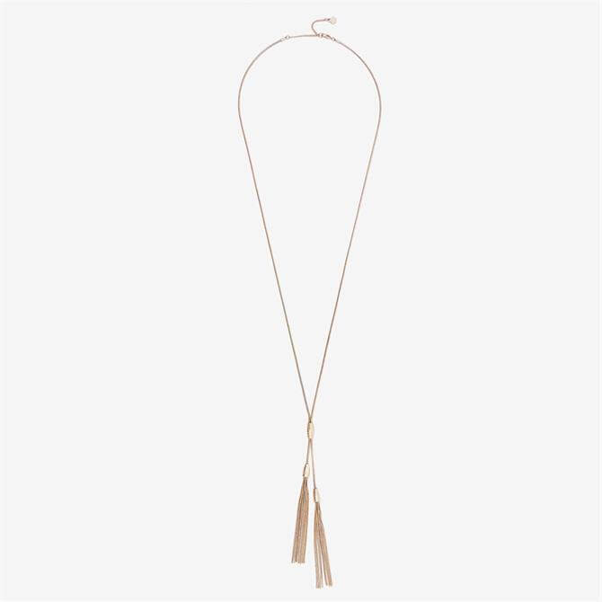 Mint Velvet Gold Tone Tasselled Necklace