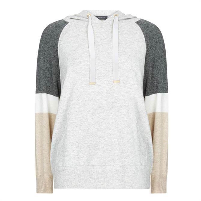 Mint Velvet Grey Blocked Knitted Hoodie