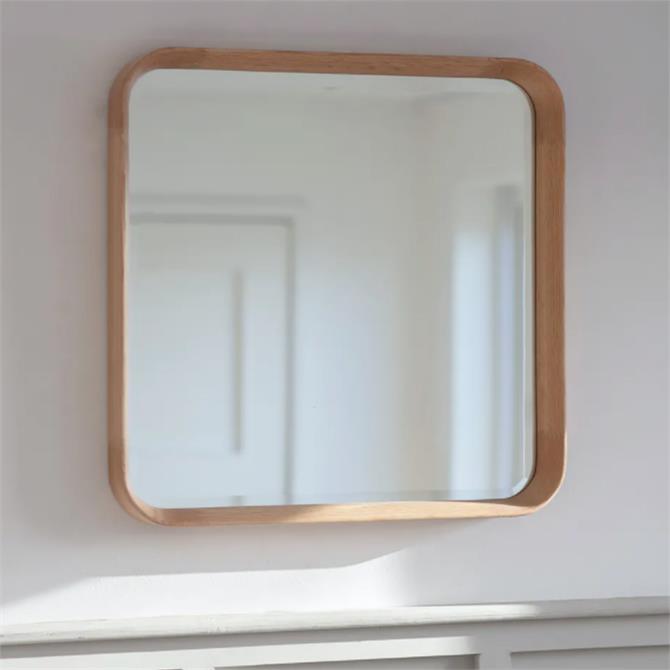 Garden Trading Hambledon Square Oak Mirror
