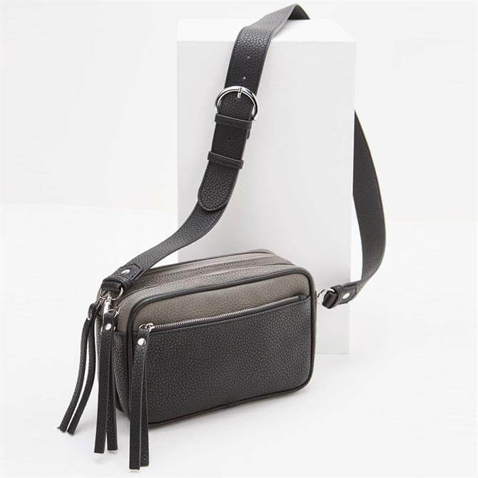 Mint Velvet Heidi Black & Grey Camera Bag