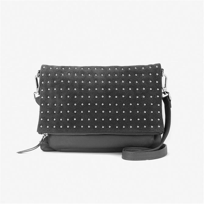Mint Velvet Holly Grey Stud Leather Bag