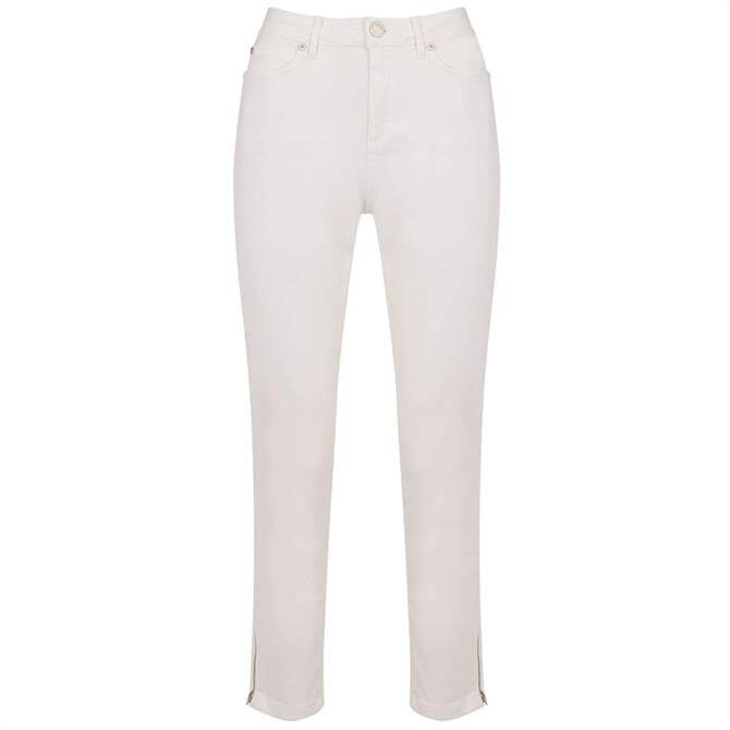 Mint Velvet Houston White Cropped Jeans