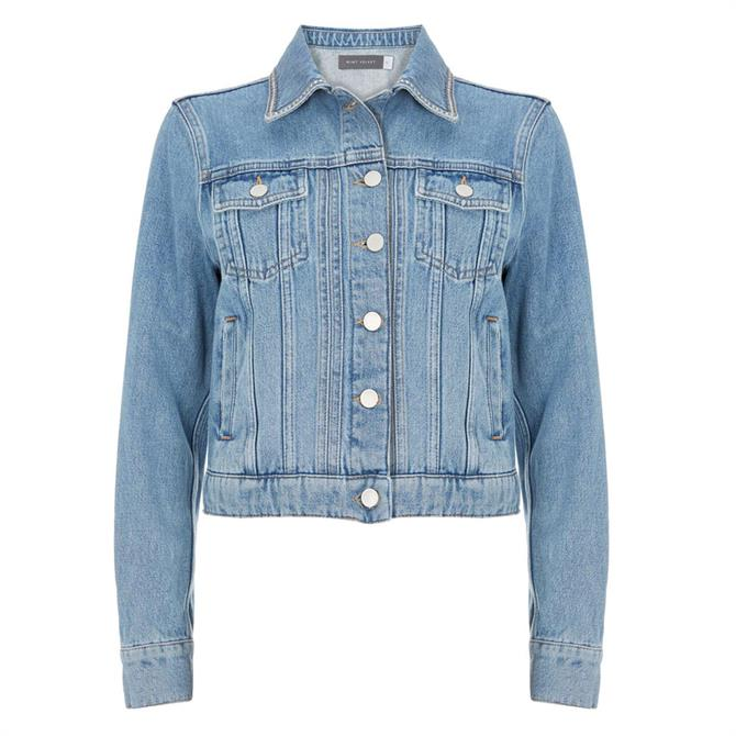 Mint Velvet Indigo Studded Denim Jacket