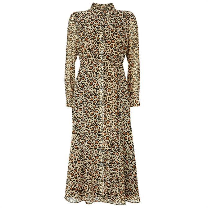 Mint Velvet Isabel Animal Midi Shirt Dress