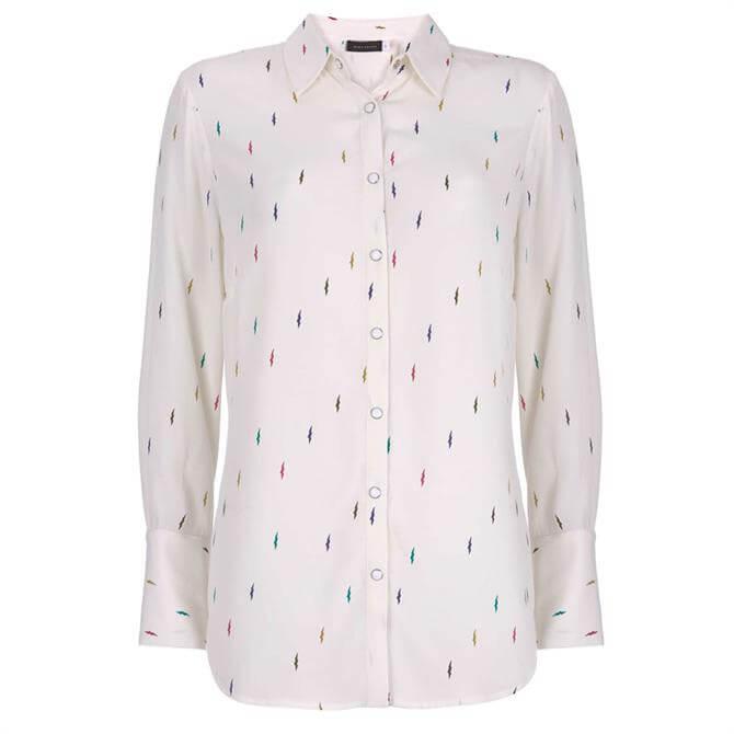 Mint Velvet Ivory Lightning Bolt Shirt