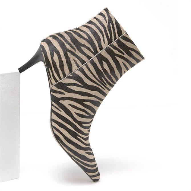 Mint Velvet Jodie Zebra Kitten Heel Boot