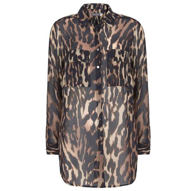 Mint Velvet Josie Leopard Print Long Shirt