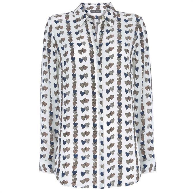 Mint Velvet Laura Heart Print Shirt