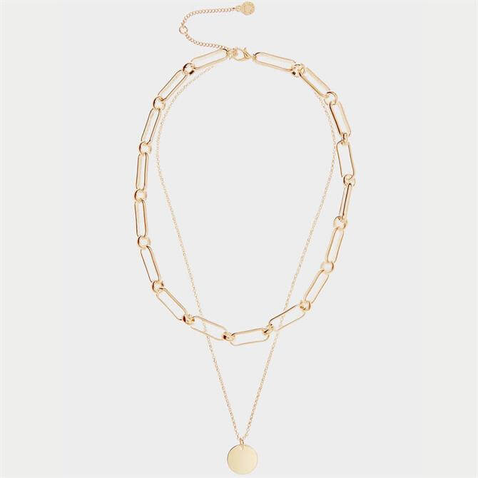 Mint Velvet Gold Layered Chain Necklace