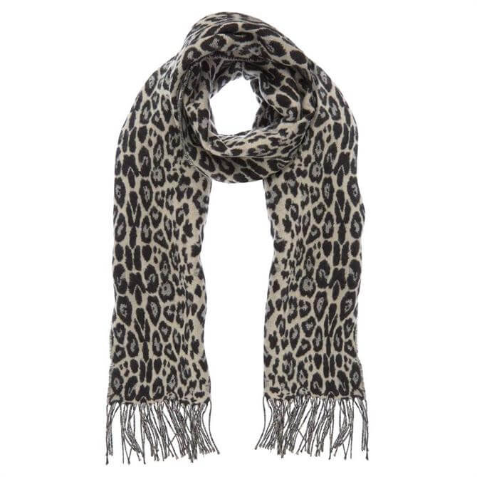 Mint Velvet Leopard Jacquard Scarf