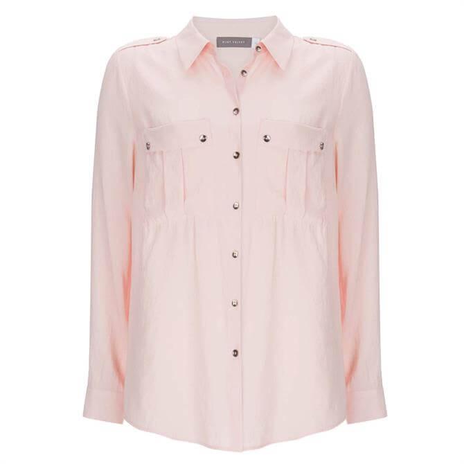 Mint Velvet Light Pink Utility Shirt