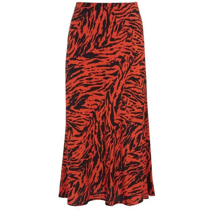 Mint Velvet Lizzie Zebra Slip Midi Skirt