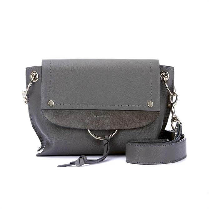 Mint Velvet Marnie Grey Leather Bag