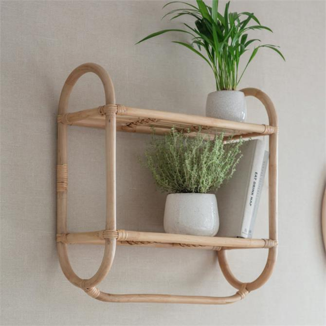 Garden Trading Mayfield Double Wall Bamboo Shelf