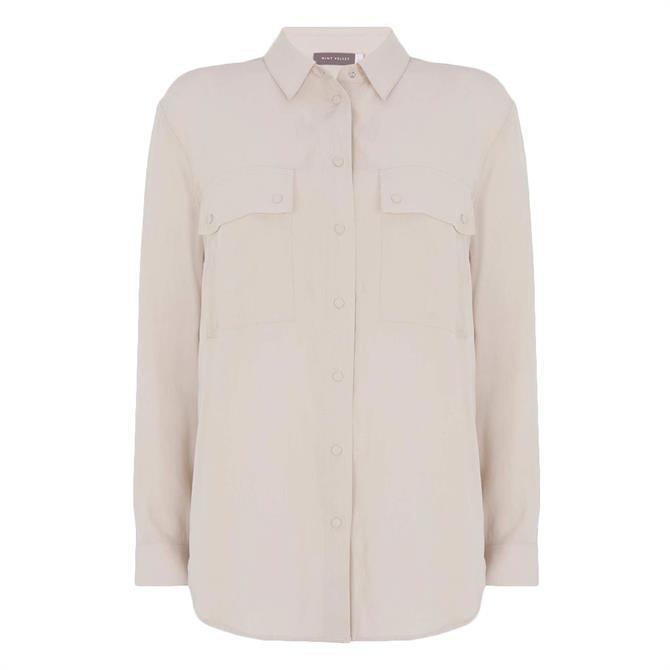 Mint Velvet Beige Utility Pocket Shirt