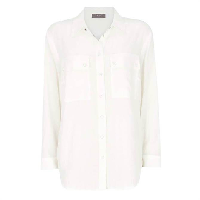 Mint Velvet Off-White Utility Pocket Shirt