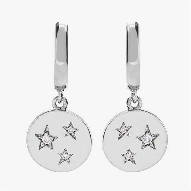 Mint Velvet Silver Plated Disc Earrings