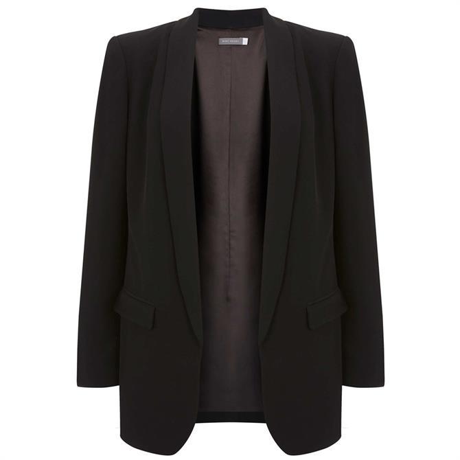 Mint Velvet Black Shawl Collar Blazer