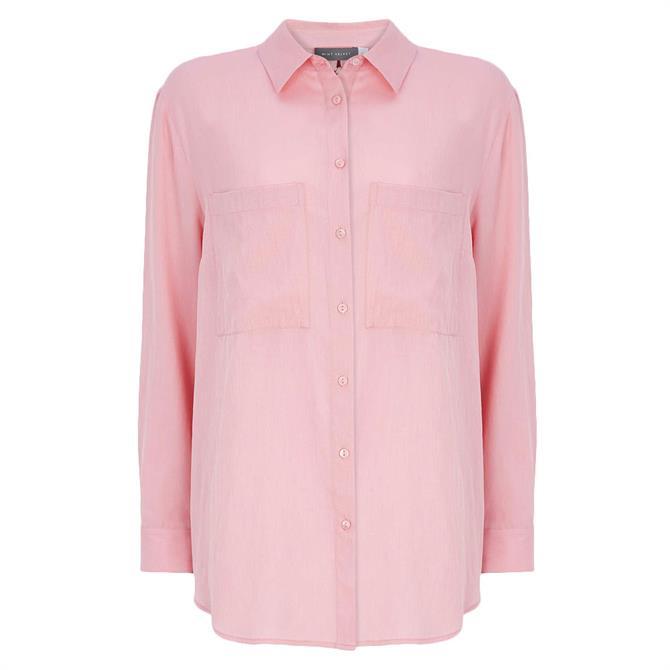 Mint Velvet Light Pink Bow Back Shirt