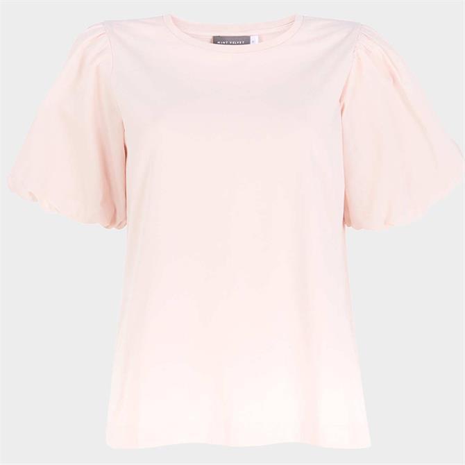 Mint Velvet Pale Pink Puff Sleeve Top