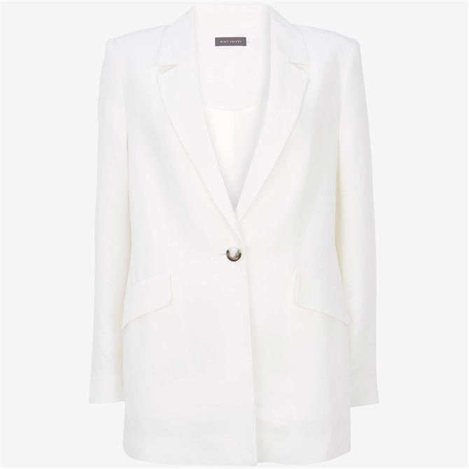 Mint Velvet White Single Breasted Blazer