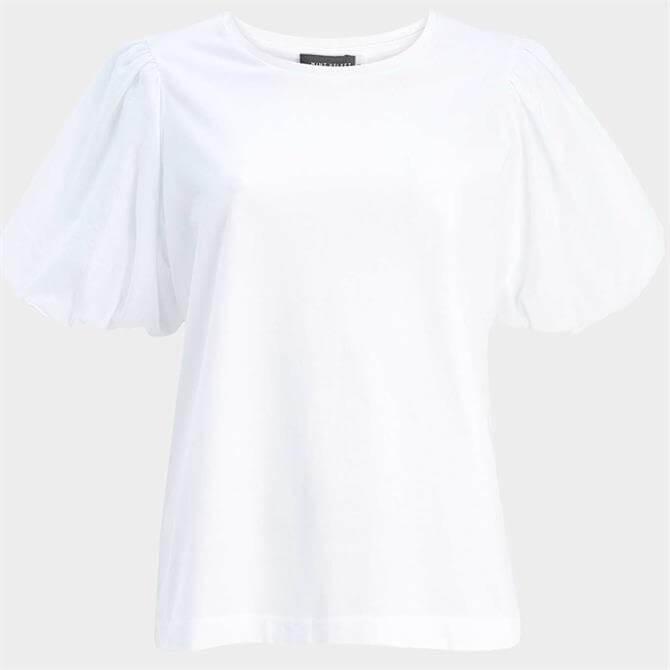 Mint Velvet White Puff Sleeve Top