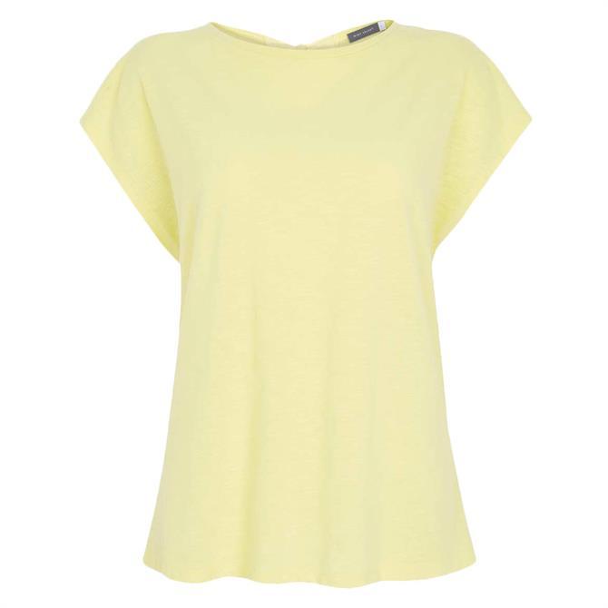Mint Velvet Yellow Bow Back Cotton T-Shirt