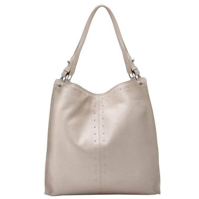 Mint Velvet Hanna Beige Stud Shoulder Bag