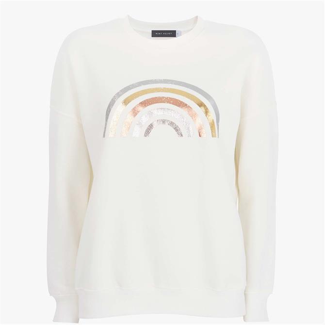 Mint Velvet Off-White Rainbow Sweatshirt