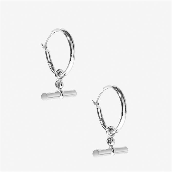 Mint Velvet Silver Tone T-Bar Earrings